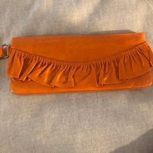 Hobo international orange clutch